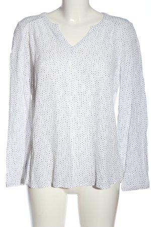 Bonita Camicetta a maniche lunghe bianco-nero stampa integrale stile casual