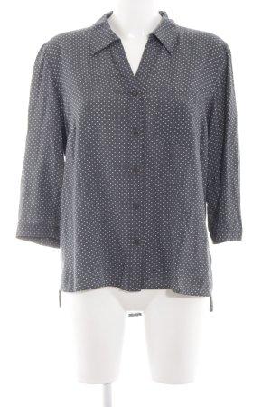 Bonita Langarm-Bluse hellgrau-weiß Punktemuster Business-Look