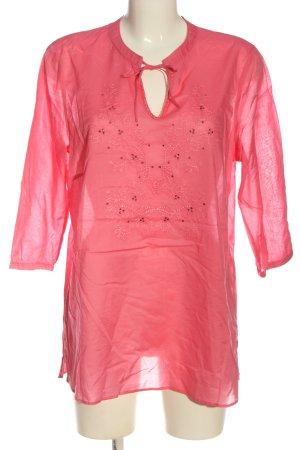 Bonita Langarm-Bluse pink Casual-Look