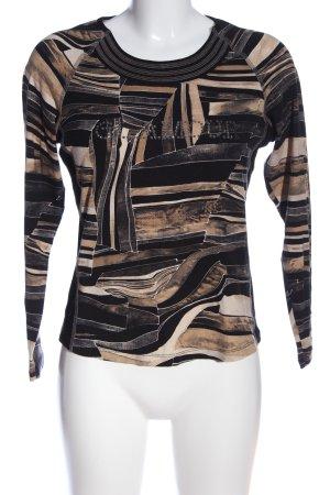 Bonita Langarm-Bluse abstraktes Muster Casual-Look