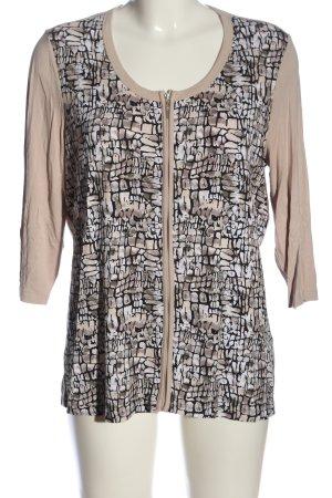Bonita Shirt Jacket light grey-black abstract pattern casual look
