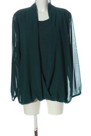 Bonita Blusa de manga larga verde elegante
