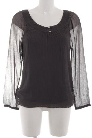 Bonita Langarm-Bluse schwarz Casual-Look