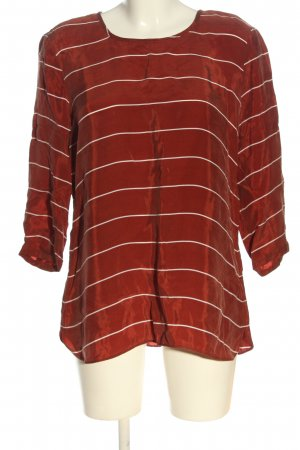 Bonita Camicetta a maniche lunghe rosso-bianco motivo a righe stile casual