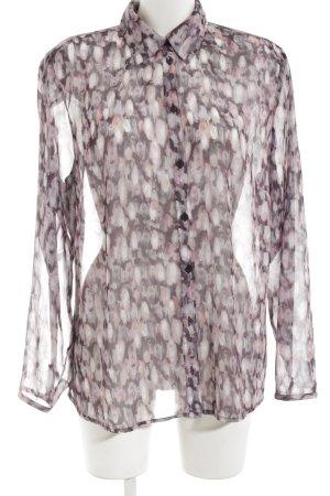 Bonita Langarm-Bluse braun Allover-Druck Transparenz-Optik