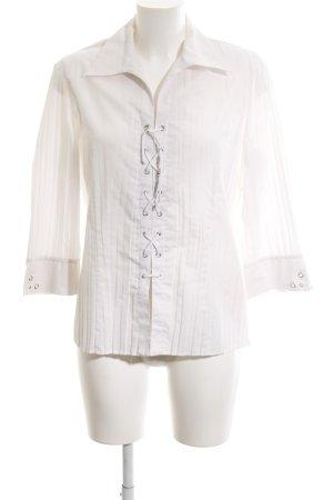 Bonita Langarm-Bluse weiß schlichter Stil