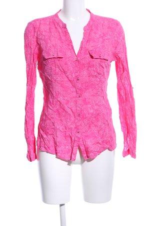 Bonita Langarm-Bluse pink Blumenmuster Street-Fashion-Look