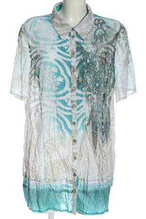 Bonita Kurzarm-Bluse abstraktes Muster Elegant