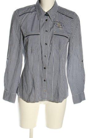 Bonita Langarmhemd weiß-schwarz Allover-Druck Casual-Look