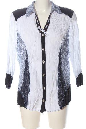 Bonita Camicia a maniche lunghe bianco-nero motivo a righe stile professionale