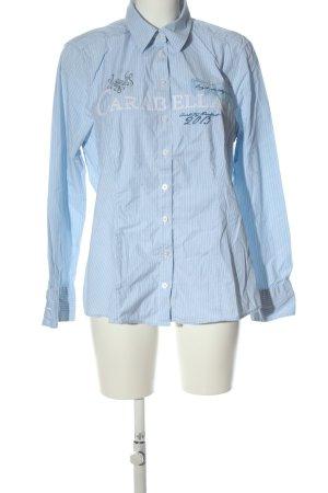Bonita Langarmhemd blau-weiß Allover-Druck Casual-Look