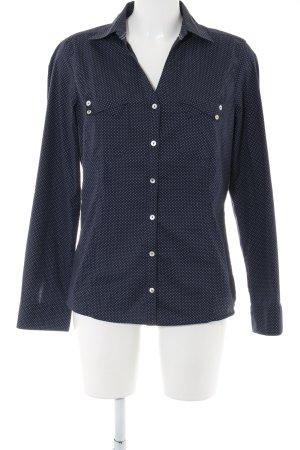 Bonita Langarmhemd blau Punktemuster Business-Look