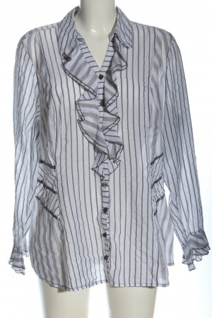 Bonita Camicia a maniche lunghe bianco-grigio chiaro stampa integrale