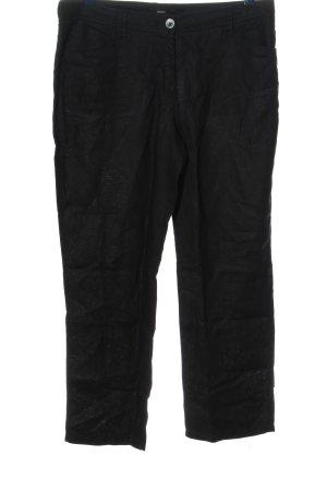 Bonita Pantalon en lin noir style décontracté
