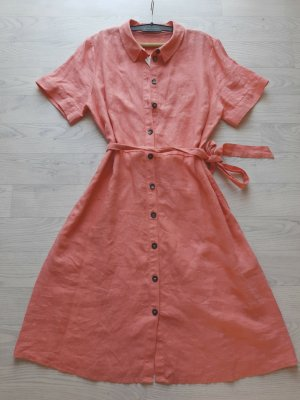Bonita Robe mi-longue vieux rose-or rose lin