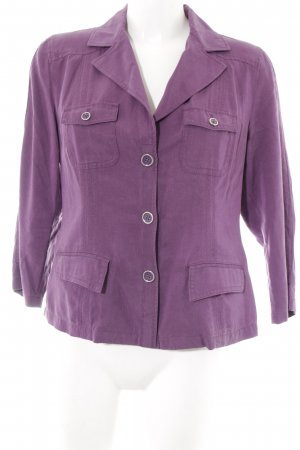 Bonita Long-Blazer lila Casual-Look