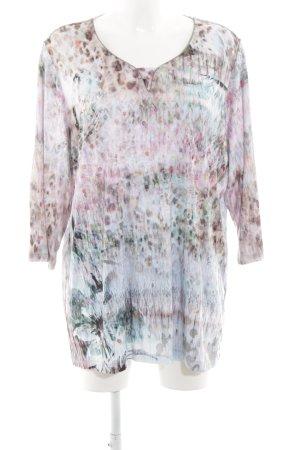 Bonita Long-Bluse pink-blau Allover-Druck Casual-Look