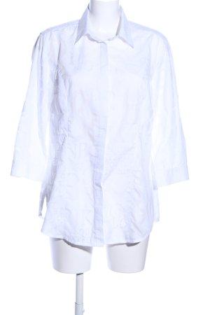 Bonita Blouse longue blanc imprimé allover style d'affaires