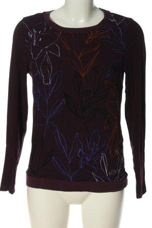 Bonita Top à manches longues brun motif de fleur style décontracté