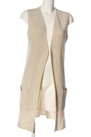 Bonita Long Knitted Vest cream cable stitch casual look