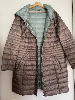 Bonita Cappotto trapuntato grigio scuro-turchese