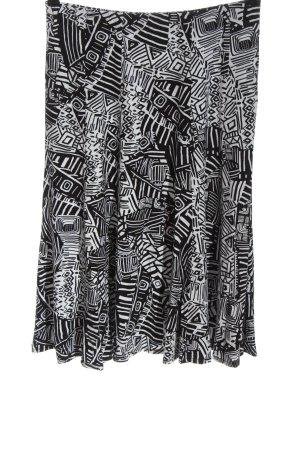 Bonita Spódnica midi czarny-biały Abstrakcyjny wzór Elegancki