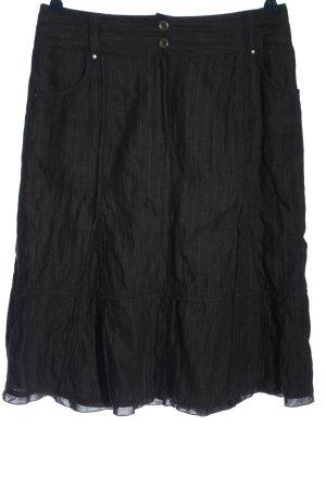 Bonita Spódnica midi czarny-brązowy Melanżowy W stylu casual