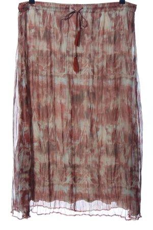 Bonita Spódnica midi biały-czerwony Na całej powierzchni Elegancki