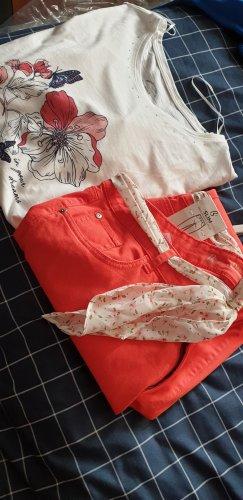 Bonita Jersey Pants white-red