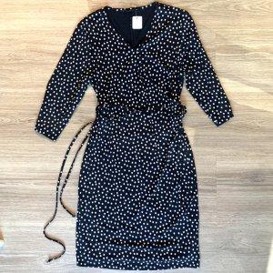 Bonita Kopertowa sukienka czarny-biały