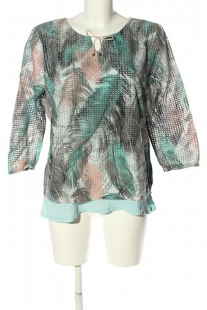 Bonita Print-Shirt Allover-Druck Casual-Look