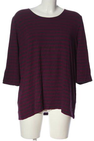 Bonita Ringelshirt pink-schwarz Streifenmuster Casual-Look