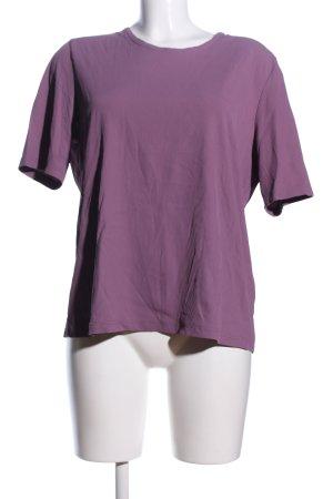 Bonita Prążkowana koszulka fiolet W stylu casual
