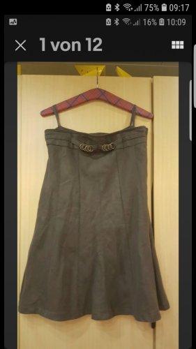 Bonita Lniana spódnica oliwkowy
