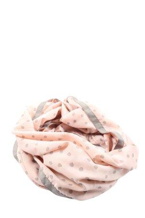 Bonita Snood pink-light grey spot pattern casual look