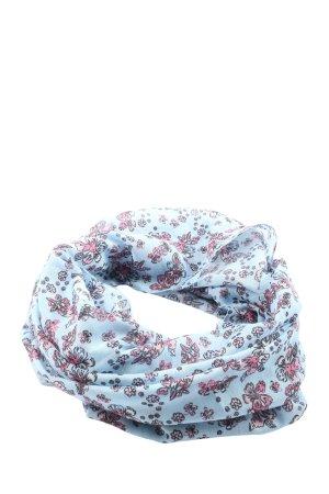 Bonita Écharpe ronde bleu-rose imprimé allover style décontracté