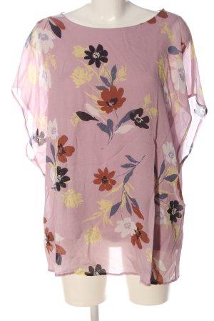 Bonita Slip-over Blouse pink flower pattern elegant