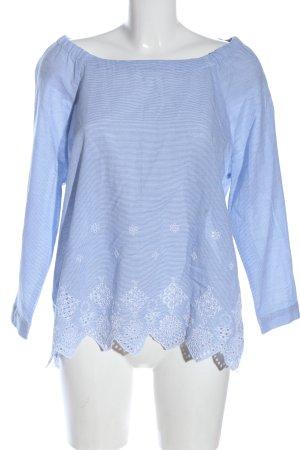 Bonita Camicetta da notte blu-bianco stampa integrale stile professionale