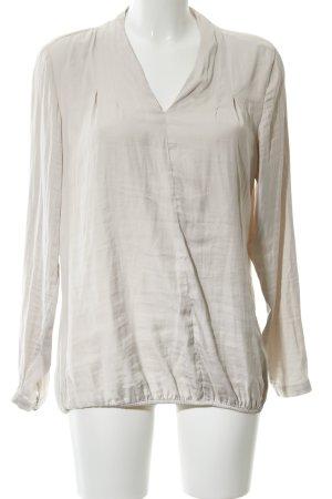 Bonita Blouse à enfiler blanc cassé-gris clair style d'affaires
