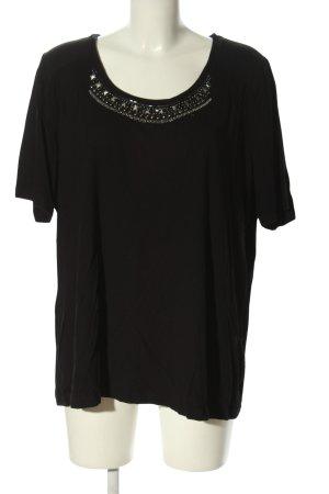 Bonita Schlupf-Bluse schwarz Casual-Look