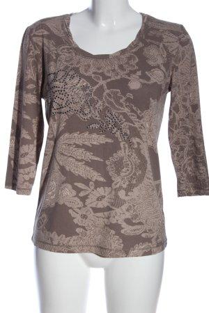 Bonita Blouse à enfiler brun motif abstrait style décontracté