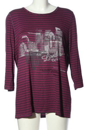 Bonita Schlupf-Bluse pink-hellgrau Motivdruck Casual-Look