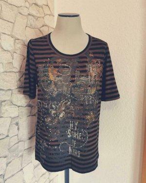 Bonita T-shirt imprimé noir-brun