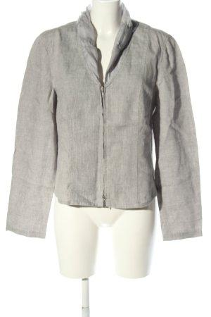 Bonita Giacca-camicia grigio chiaro motivo a righe stile casual