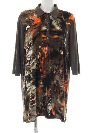 Bonita Camisa tipo túnica estampado con diseño abstracto look casual