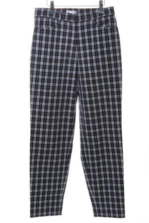 Bonita Slim Jeans white-black check pattern casual look