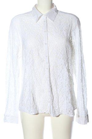 Bonita Blusa in merletto bianco stile classico