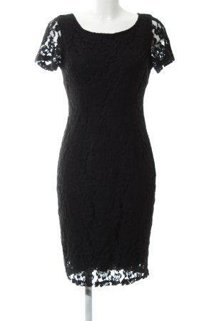 Bonita Spitzenkleid schwarz Blumenmuster Casual-Look