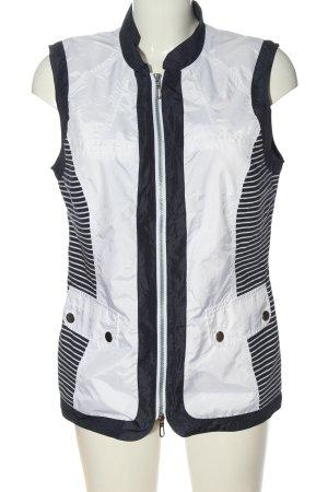 Bonita Kamizelka sportowa biały-niebieski Wzór w paski W stylu casual