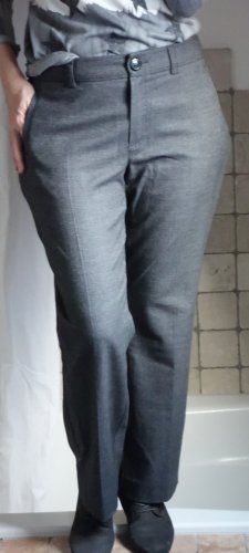 Bonita Stoffhose, klassischer Schnitt, weiches Material mit ganz kleinem Karo, Polyester/Viskose Mischung, sehr angenehmes Material, gerade geschnitten, gerades Bein, Business, grau, dunkelgrau, anthrazit, TOP Zustand, Gr. 38 Gr. M
